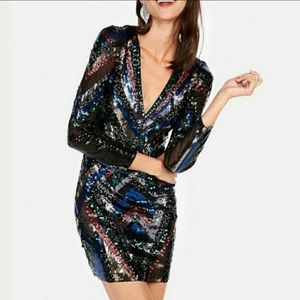 NEW Express multicolor sequin dress🥳